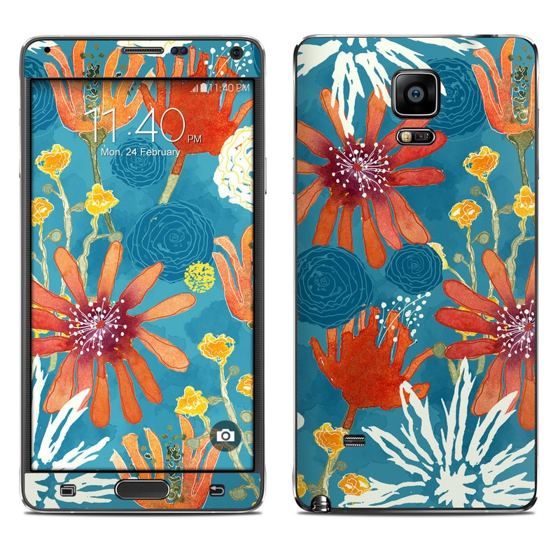 Sunbaked Blooms Galaxy Note 4 Skin