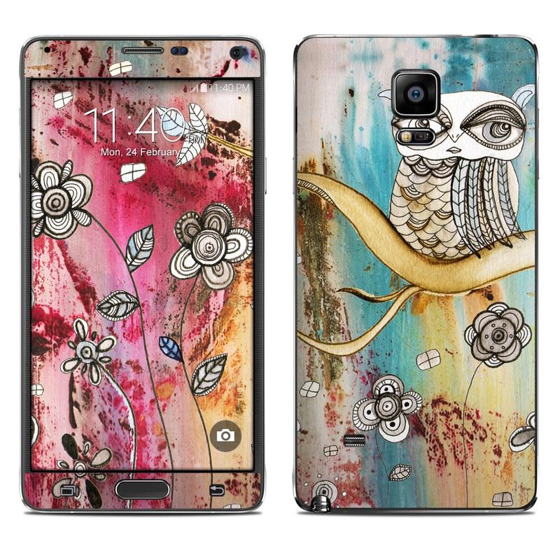 Surreal Owl Galaxy Note 4 Skin