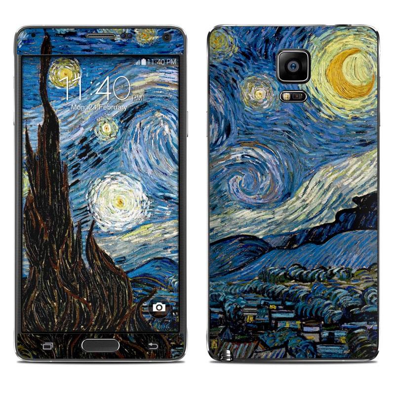 Starry Night Galaxy Note 4 Skin