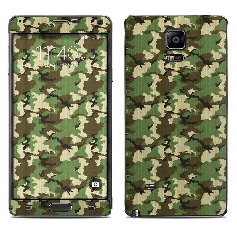 Woodland Camo Galaxy Note 4 Skin