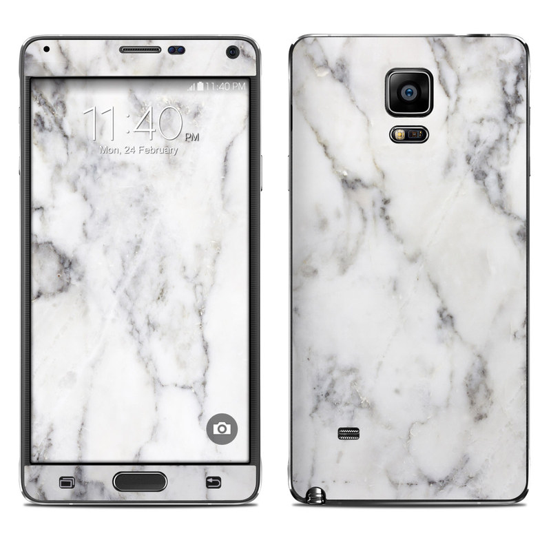 quality design de53f f13ee White Marble Galaxy Note 4 Skin