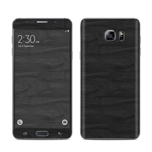Black Woodgrain Galaxy Note 5 Skin