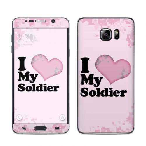 I Love My Soldier Galaxy Note 5 Skin