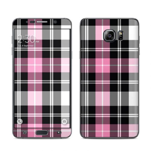 Pink Plaid Galaxy Note 5 Skin