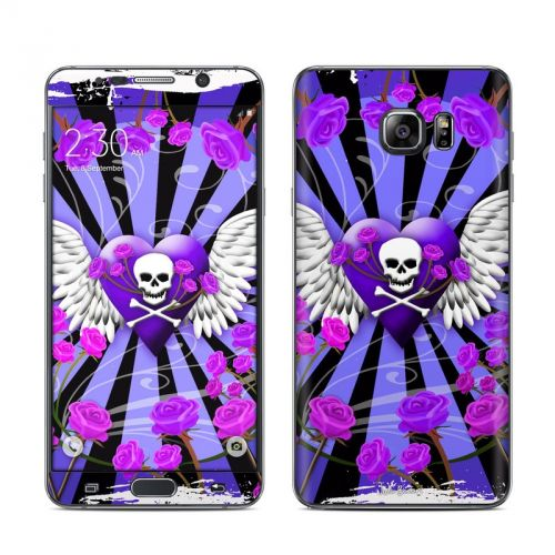 Skull & Roses Purple Galaxy Note 5 Skin