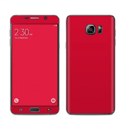 Solid State Red Samsung Galaxy Note 5 Skin