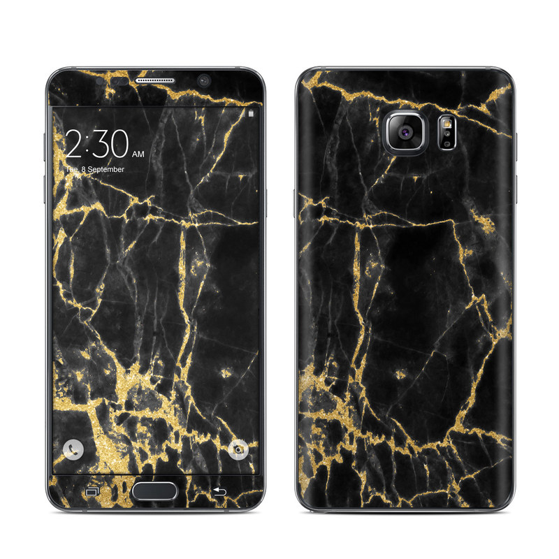 Black Gold Marble Galaxy Note 5 Skin