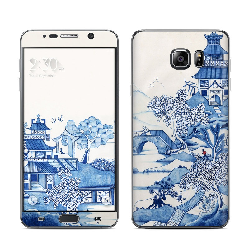 Blue Willow Galaxy Note 5 Skin