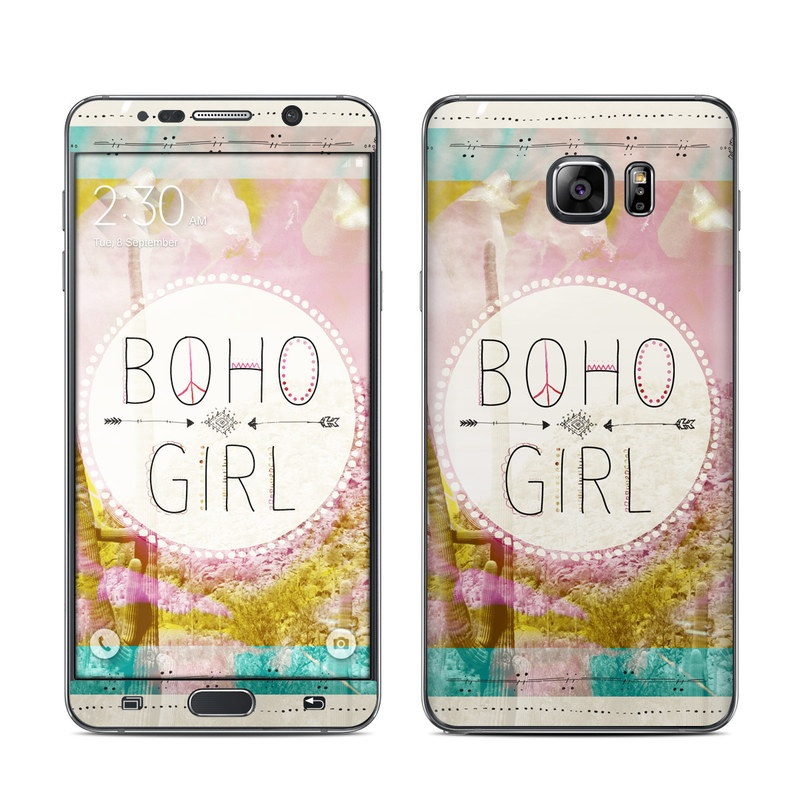 Boho Girl Galaxy Note 5 Skin
