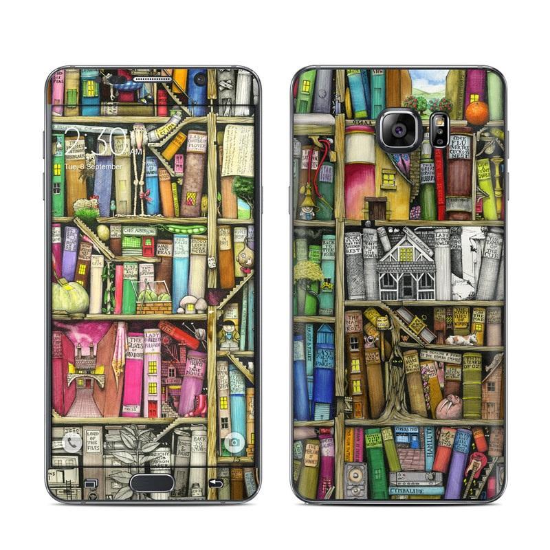 Bookshelf Galaxy Note 5 Skin