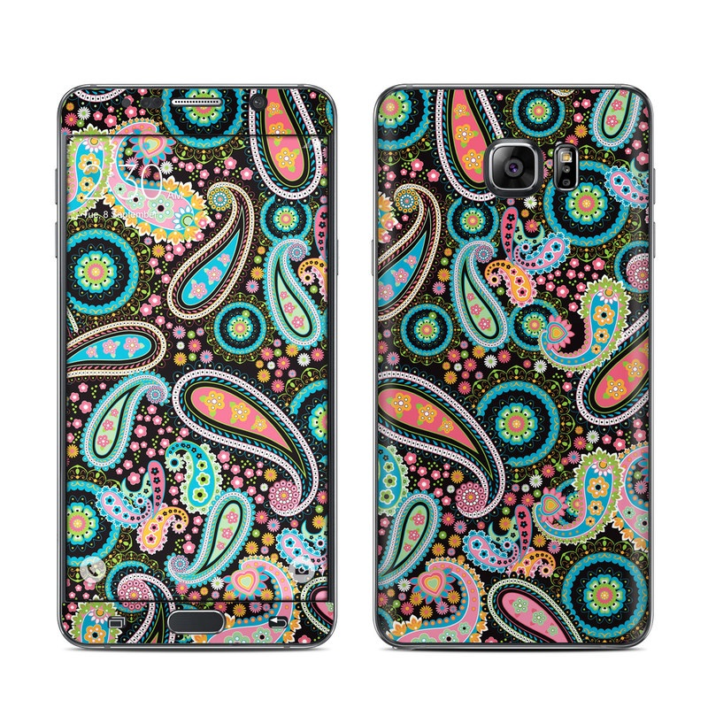 Crazy Daisy Paisley Galaxy Note 5 Skin