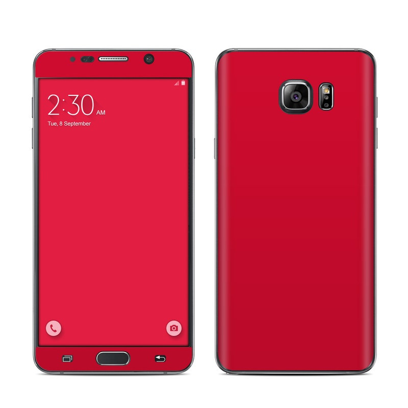 Samsung Galaxy Note 5 Skin design of Red, Pink, Maroon, Purple, Orange, Violet, Magenta, Material property, Font, Peach with red colors