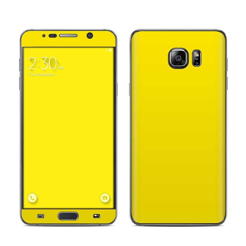 Solid State Yellow Galaxy Note 5 Skin