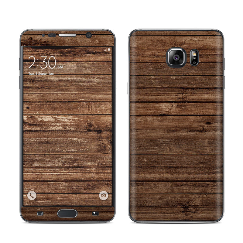 Stripped Wood Galaxy Note 5 Skin