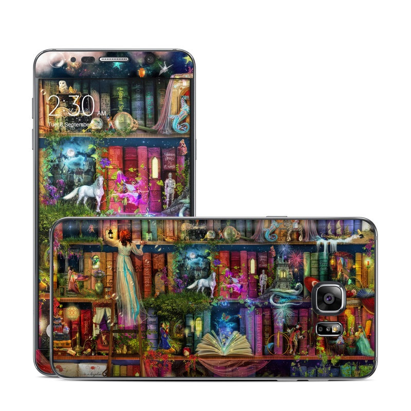 Samsung Galaxy Note 5 Skin design of Painting, Art, Theatrical scenery with black, red, gray, green, blue colors