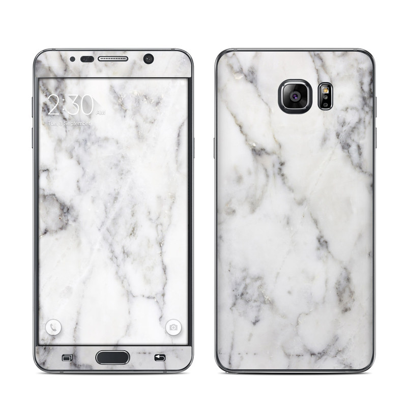 Samsung Galaxy Note 5 Skin design of White, Geological phenomenon, Marble, Black-and-white, Freezing with white, black, gray colors