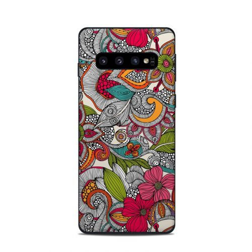 Doodles Color Samsung Galaxy S10 Skin