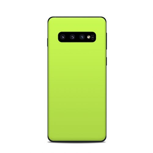 Solid State Lime Samsung Galaxy S10 Skin