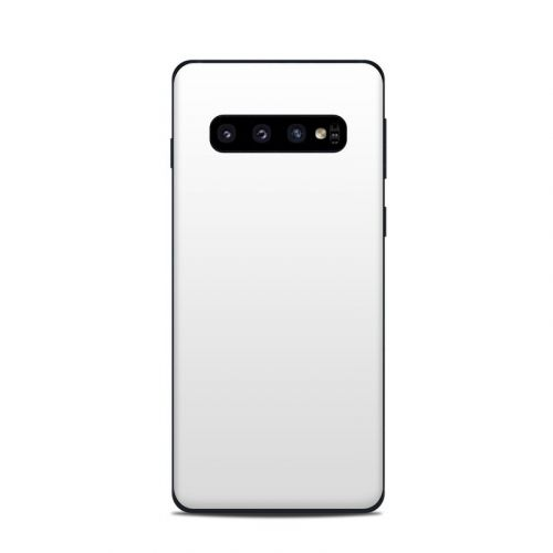 Solid State White Samsung Galaxy S10 Skin
