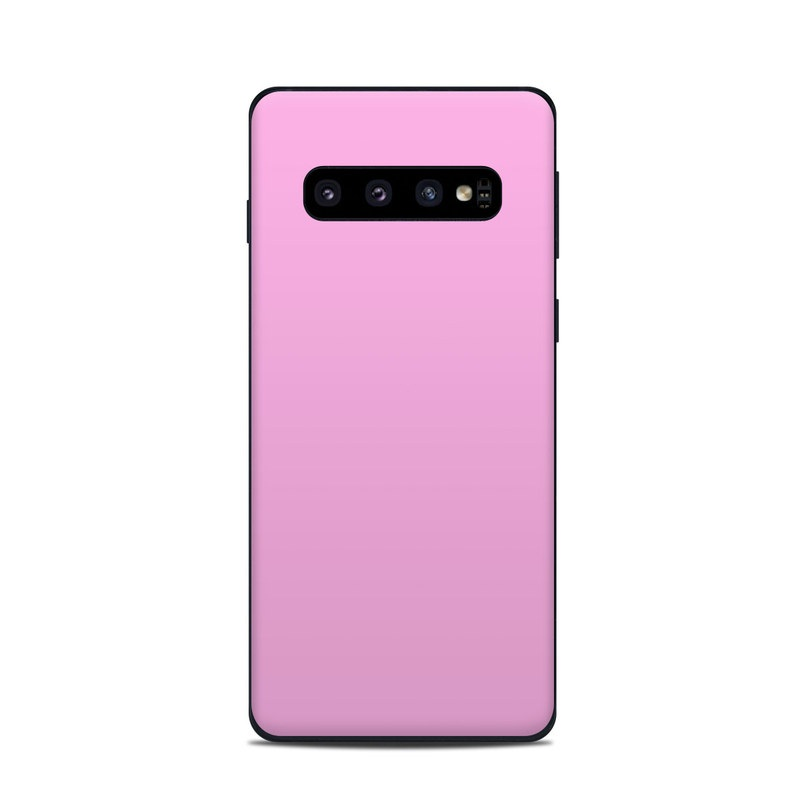 Samsung Galaxy S10 Skin design of Pink, Violet, Purple, Red, Magenta, Lilac, Sky, Material property, Peach with pink colors