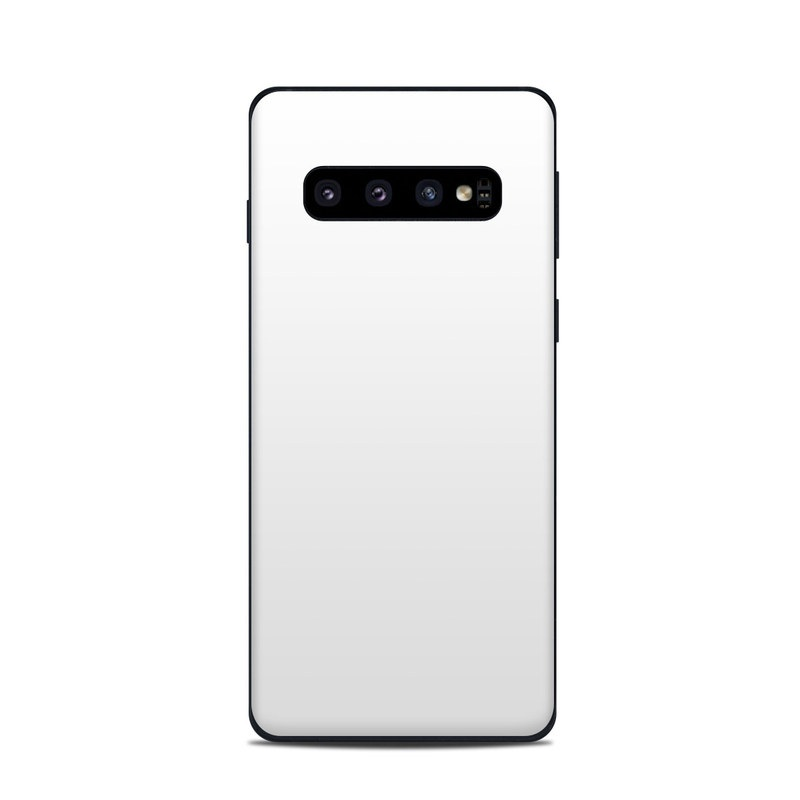 Samsung Galaxy S10 Skin design of White, Black, Line with white colors