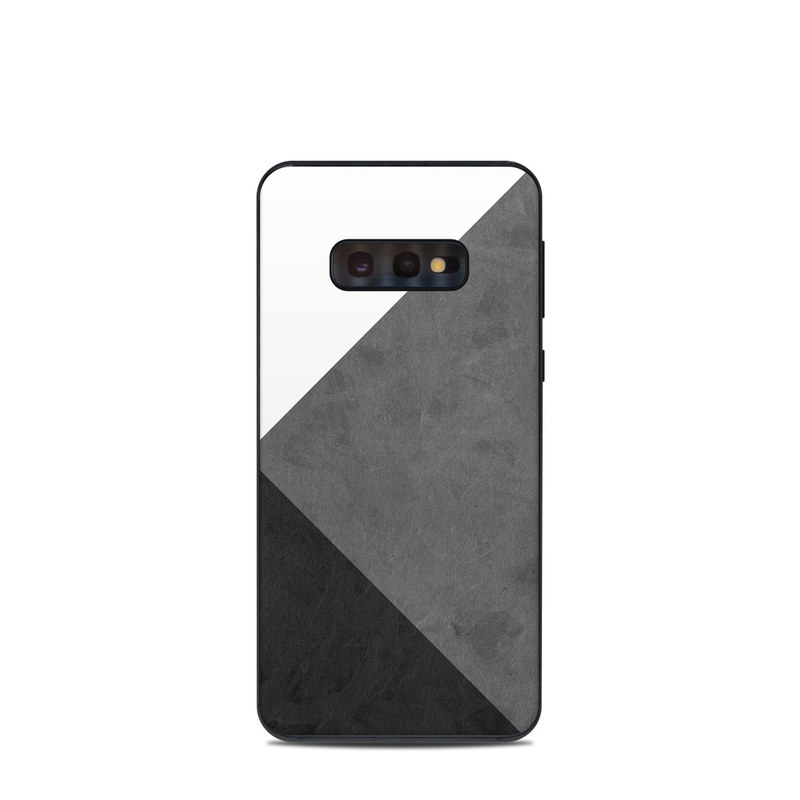 Samsung Galaxy S10e Skin design of Black, White, Black-and-white, Line, Grey, Architecture, Monochrome, Triangle, Monochrome photography, Pattern with white, black, gray colors