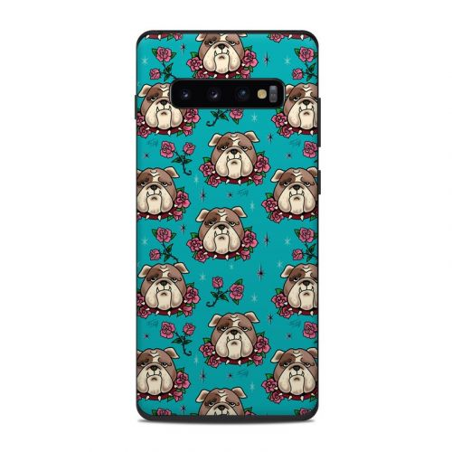 Bulldogs and Roses Samsung Galaxy S10 Plus Skin