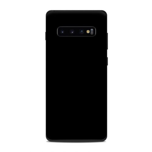 Solid State Black Samsung Galaxy S10 Plus Skin