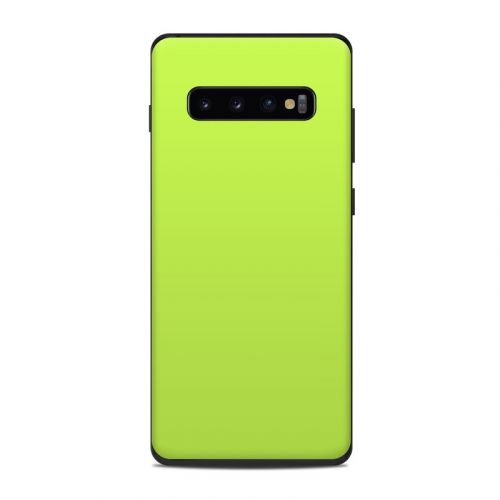 Solid State Lime Samsung Galaxy S10 Plus Skin