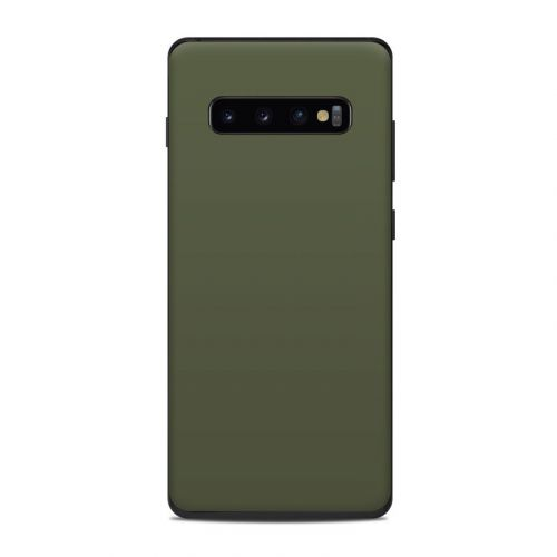 Solid State Olive Drab Samsung Galaxy S10 Plus Skin