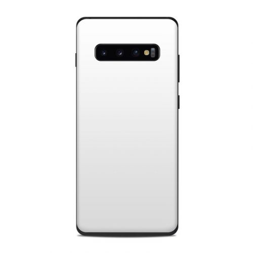 Solid State White Samsung Galaxy S10 Plus Skin