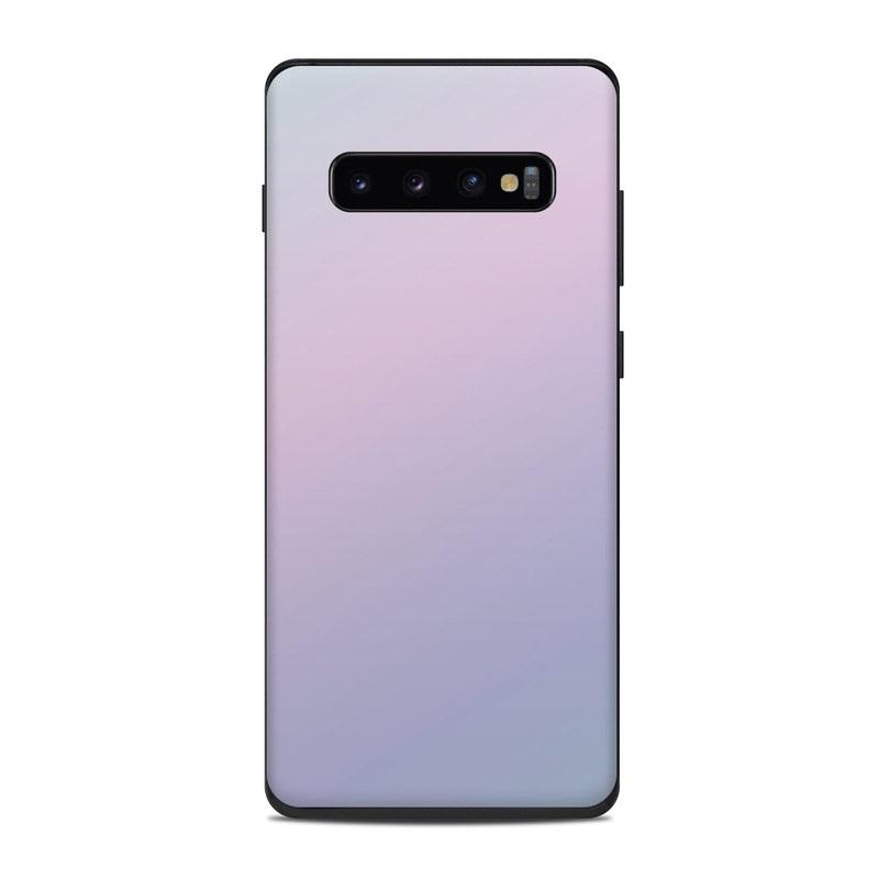 Samsung Galaxy S10 Plus Skin design of White, Blue, Daytime, Sky, Atmospheric phenomenon, Atmosphere, Calm, Line, Haze, Fog with pink, purple, blue colors