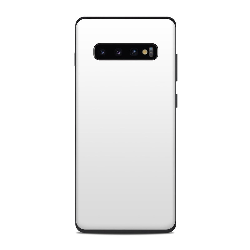 Samsung Galaxy S10 Plus Skin design of White, Black, Line with white colors