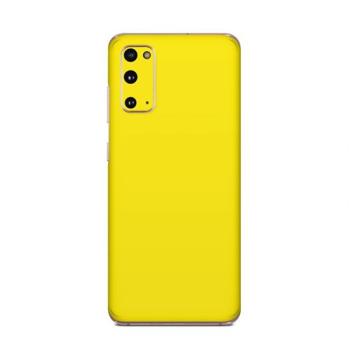 Solid State Yellow Samsung Galaxy S20 5G Skin