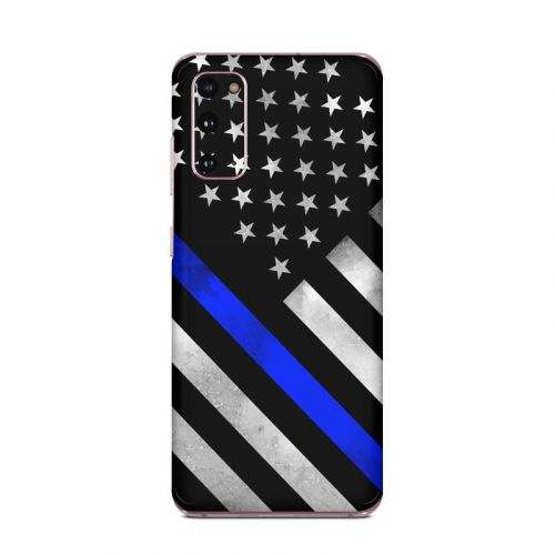 Thin Blue Line Hero Samsung Galaxy S20 5G Skin