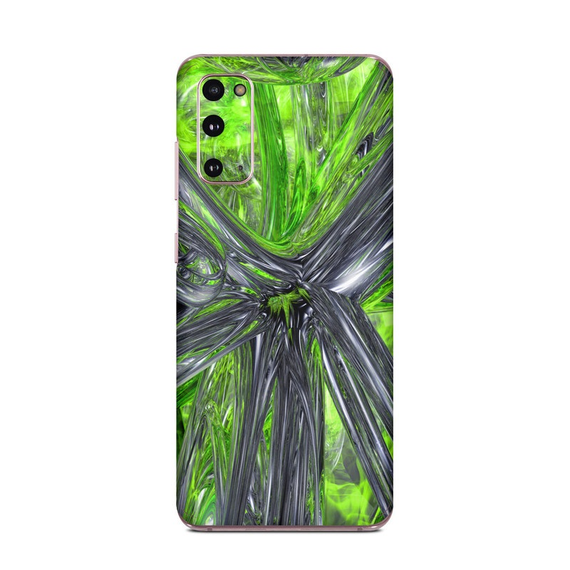 Samsung Galaxy S20 5G Skin design of Green, Tree, Leaf, Plant, Grass, Terrestrial plant, Botany, Woody plant, Arecales, Vascular plant with green, gray, black colors