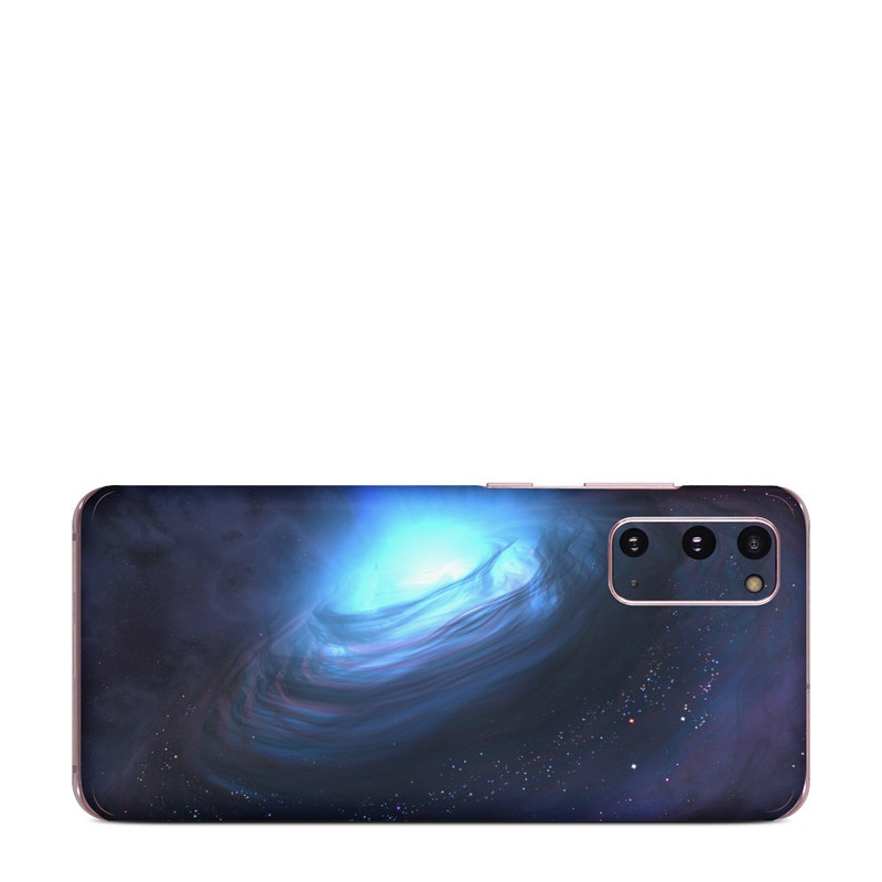 Samsung Galaxy S20 5G Skin design of Blue, Outer space, Light, Sky, Atmosphere, Space, Universe, Astronomical object, Darkness, Graphics with black, blue, purple colors