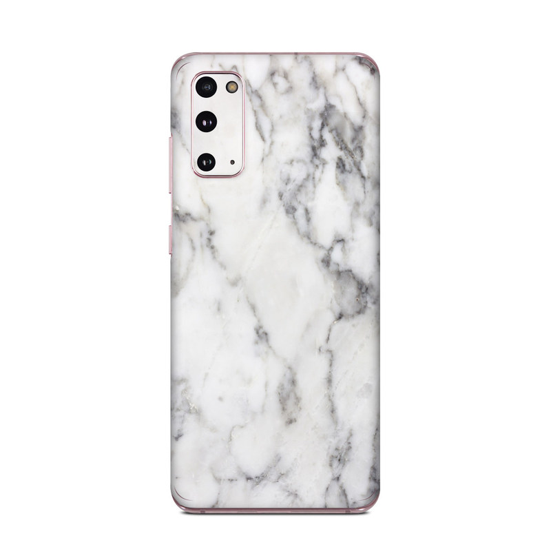 Samsung Galaxy S20 5G Skin design of White, Geological phenomenon, Marble, Black-and-white, Freezing with white, black, gray colors