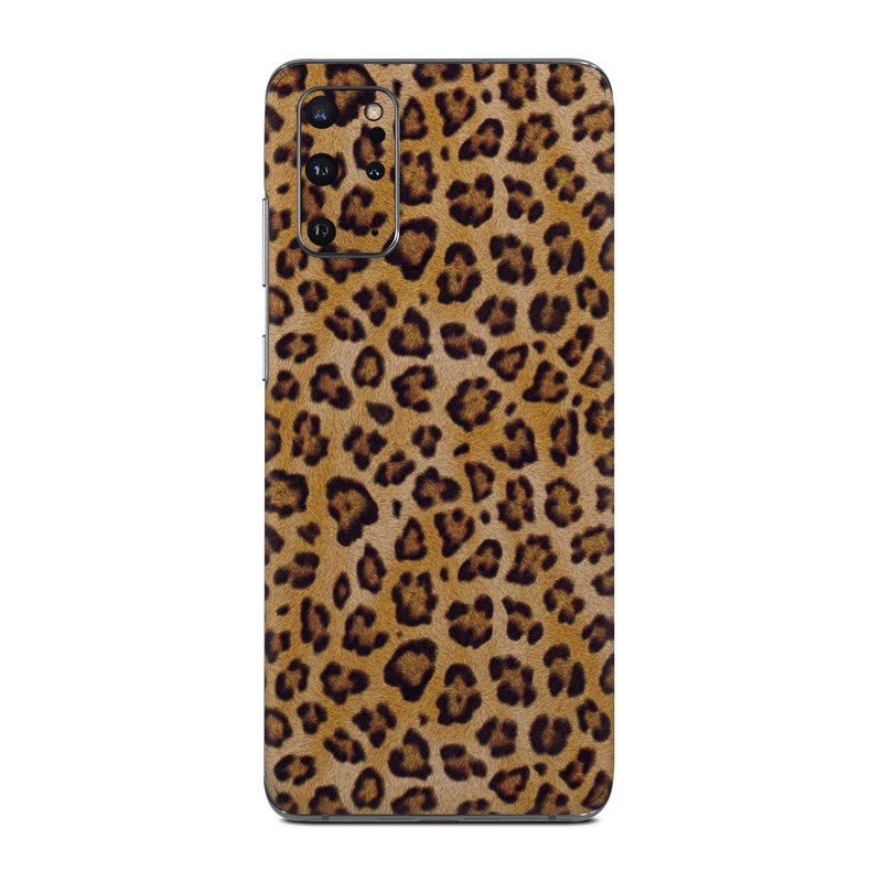 Samsung Galaxy S20 Plus 5G Skin design of Pattern, Felidae, Fur, Brown, Design, Terrestrial animal, Close-up, Big cats, African leopard, Organism with orange, black colors