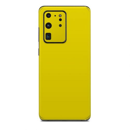 Solid State Yellow Samsung Galaxy S20 Ultra Skin