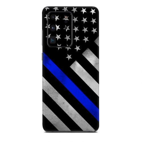 Thin Blue Line Hero Samsung Galaxy S20 Ultra Skin