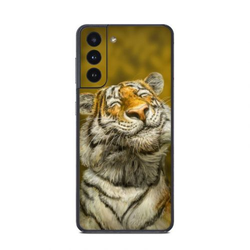 Smiling Tiger Samsung Galaxy S21 Skin