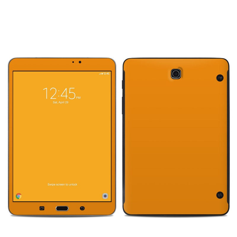 Samsung Galaxy Tab S2 8.0 Skin design of Orange, Yellow, Brown, Text, Amber, Font, Peach with orange colors