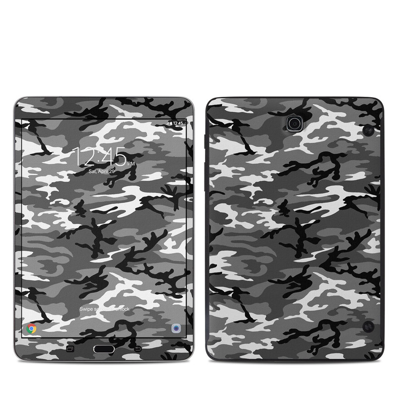 Samsung Galaxy Tab S2 8.0 Skin design of Military camouflage, Pattern, Clothing, Camouflage, Uniform, Design, Textile with black, gray colors