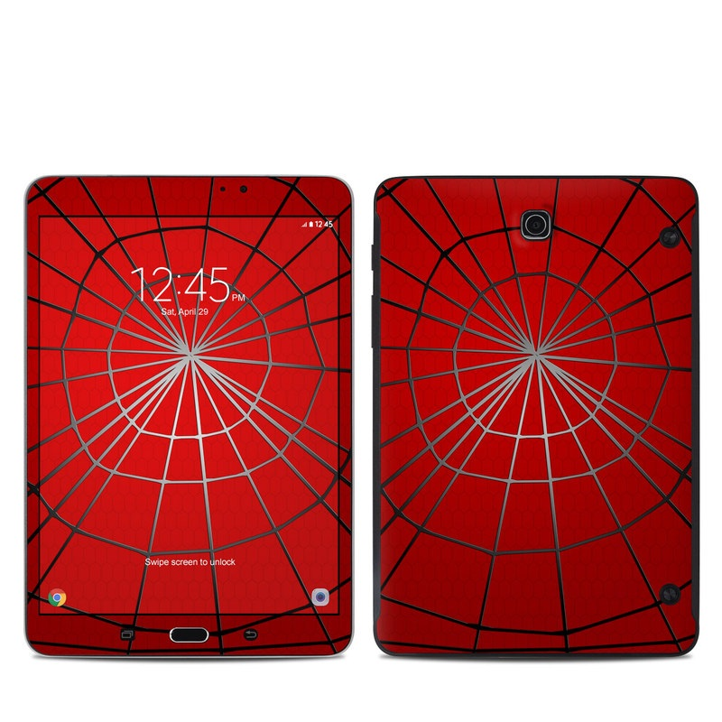 Samsung Galaxy Tab S2 8.0 Skin design of Red, Symmetry, Circle, Pattern, Line with red, black, gray colors