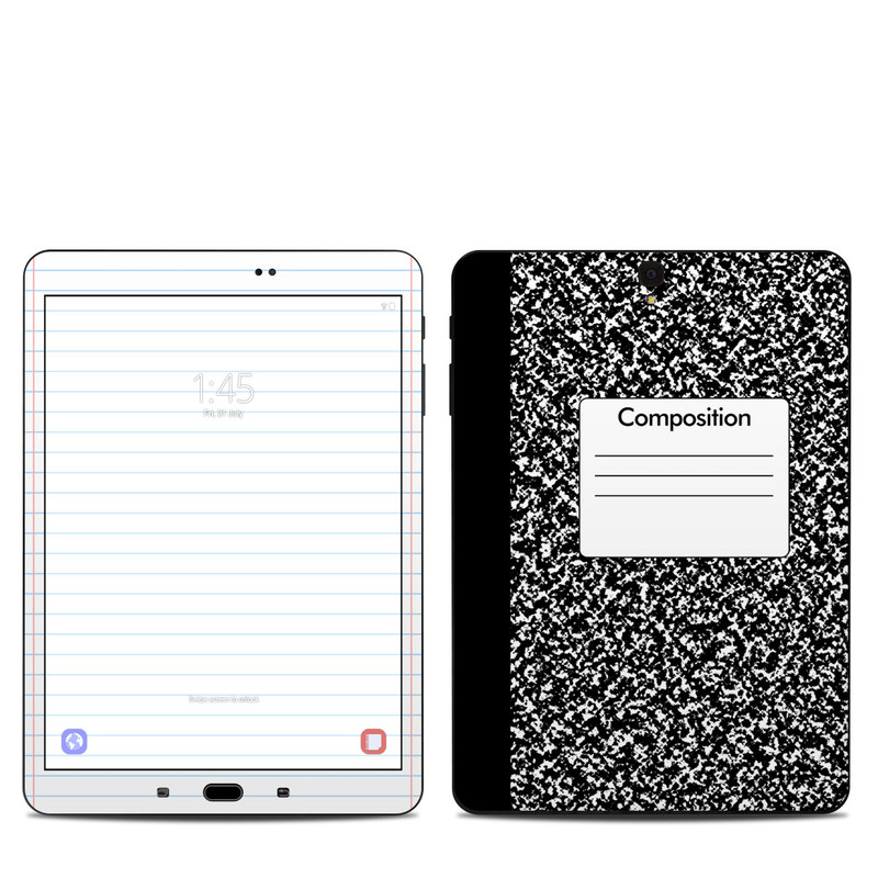Samsung Galaxy Tab S3 9.7 Skin design of Text, Font, Line, Pattern, Black-and-white, Illustration with black, gray, white colors