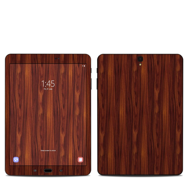 Samsung Galaxy Tab S3 9.7 Skin design of Wood, Red, Brown, Hardwood, Wood flooring, Wood stain, Caramel color, Laminate flooring, Flooring, Varnish with black, red colors