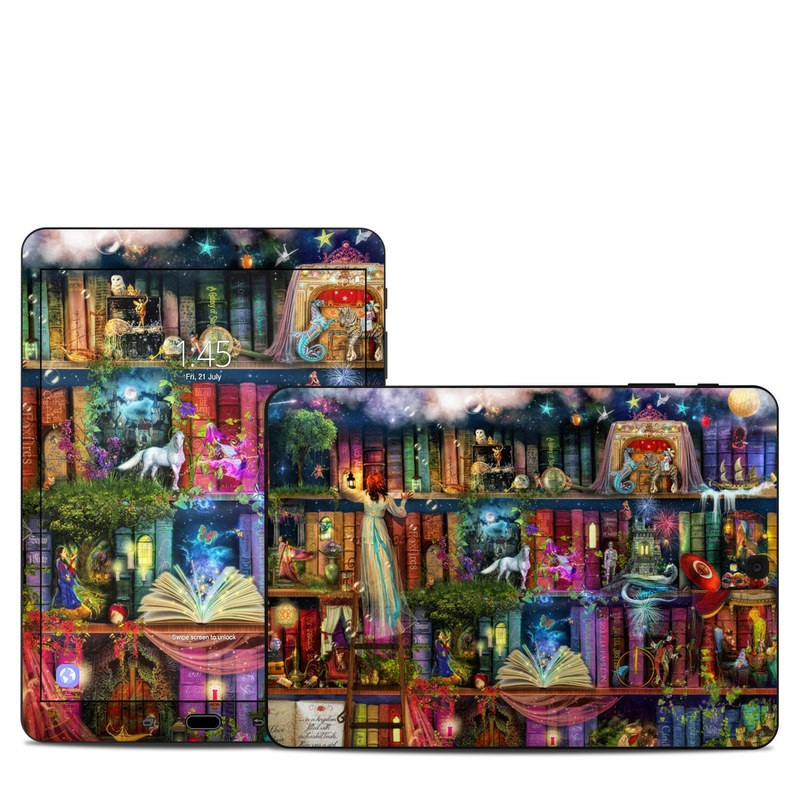 Samsung Galaxy Tab S3 9.7 Skin design of Painting, Art, Theatrical scenery with black, red, gray, green, blue colors
