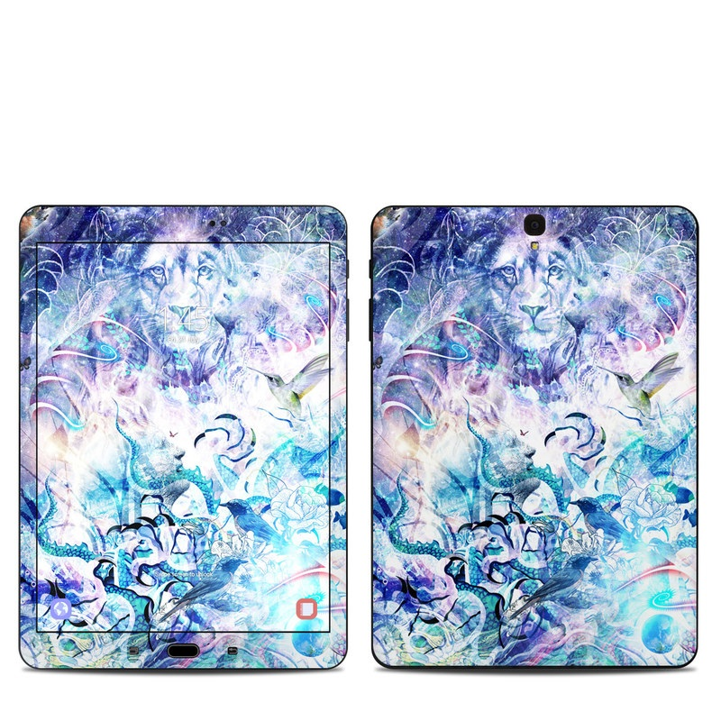 Samsung Galaxy Tab S3 9.7 Skin design of Psychedelic art, Water, Fractal art, Art, Pattern, Graphic design, Design, Illustration, Electric blue, Visual arts with blue, purple, green, red, gray, white colors