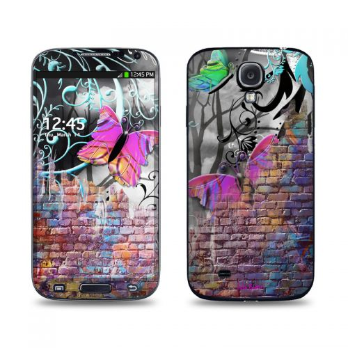 Butterfly Wall Galaxy S4 Skin